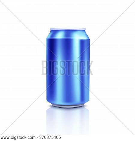 Blue Blank Can Mock-up. Template Can.vector Illustration