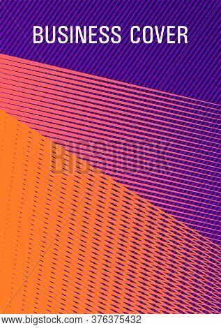 Brochure Cover Page Layout Geometric Vector Design. Futuristic Publication Paper. Advanced Brand Cov