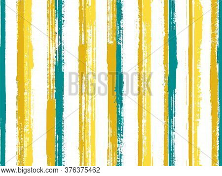 Ink Thin Straight Lines Vector Seamless Pattern. Material Candy Wrap  Sweet Design. Old Style Textur