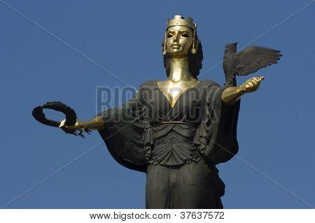 Sofia, the capital of Bulgaria, a statue of St. Sofia