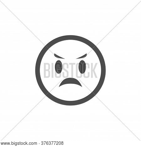 Angry Icon Isolated On White Background. Angry Face Icon In Trendy Design Style. Angry Vector Icon M