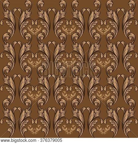 Beautiful Flower Design On Jogja Batik With Soft Brown Color Design
