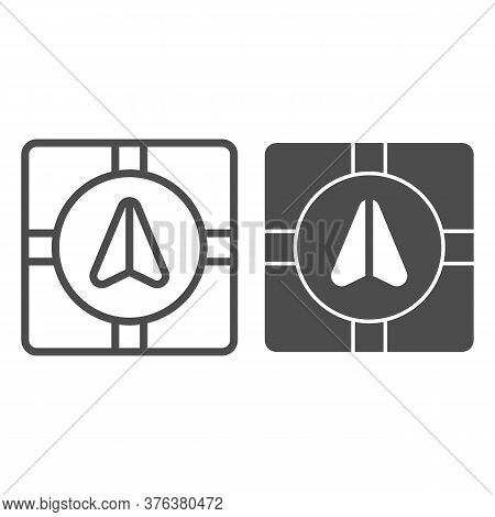Gps Navigator Marker And Crossroads Line And Solid Icon, Navigation Concept, Navigation Arrow On Cit