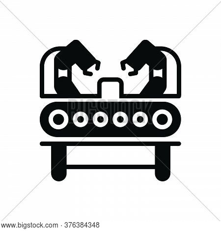 Black Solid Icon For Machinery-production Industry Automotive Machinery Technology Electrical Manipu