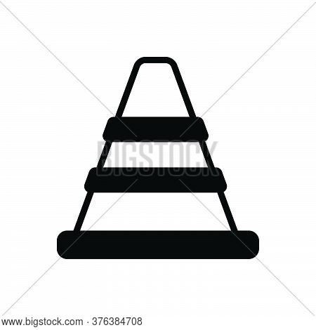 Black Solid Icon For Traffic-cone Safety Barrier Boundary Construction Caution Repair Traffic Securi