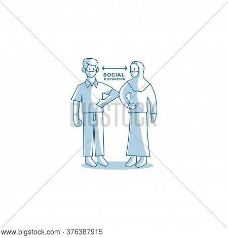 Social Distancing Elbow Bump Avoid Physical Contact