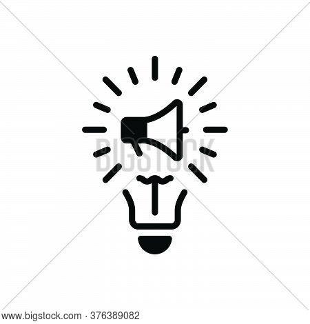 Black Solid Icon For Marketing-idea Marketing Idea Innovation Genius Motivation Creative Inspiration