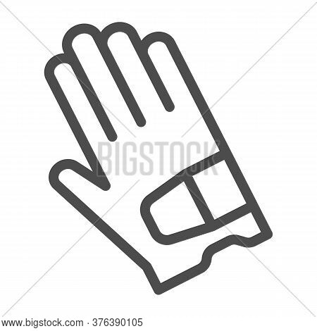 Glove Line Icon, Golf Concept, Sport Gloves Sign On White Background, Golf Glove Icon In Outline Sty