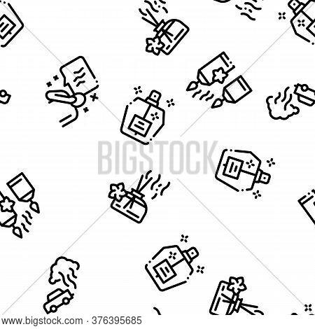 Odor Aroma And Smell Seamless Pattern Vector Thin Line. Illustrations