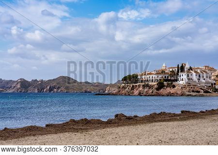 View Of Calabardina In The Province Of Murcia In Spain, Western Europe