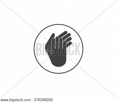 Applause, Clap Hands, Ovation Icon. Vector Illustration, Flat Design.