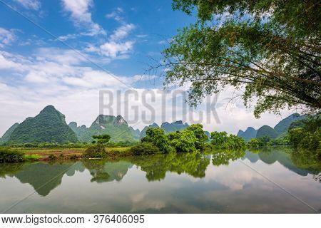 Karst Mountains Landscape of Guilin, China.