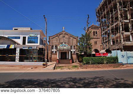 Moshi / Tanzania - 08 Jan 2017: The Church In Moshi City Of Tanzania, Africa
