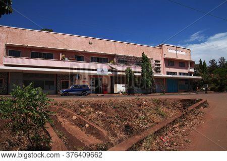 Moshi / Tanzania - 08 Jan 2017: The Building In Moshi City Of Tanzania, Africa