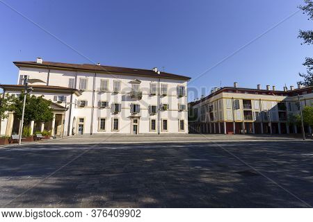 Gorgonzola, Milan,  Lombardy, Italy: Exterior Of The Historic Palace Known As Pirola, Or Fregoneschi