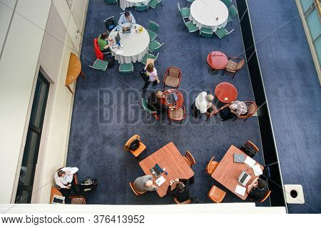 Orlando, Florida, Usa -  March 11, 2008:  Top View To Press-zone For Journalists Job And Meetings  A