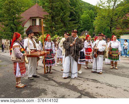 Voevodyno, Ukraine - July 7, 2020: Performance Of Traditional Ukrainian Choir During Slavic Celebrat