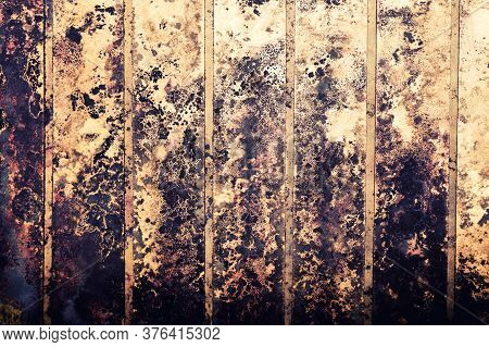 Black Spots Of Toxic Mold And Fungus Bacteria On A Wall. Concept Of Condensation, Damp, Water Infilt