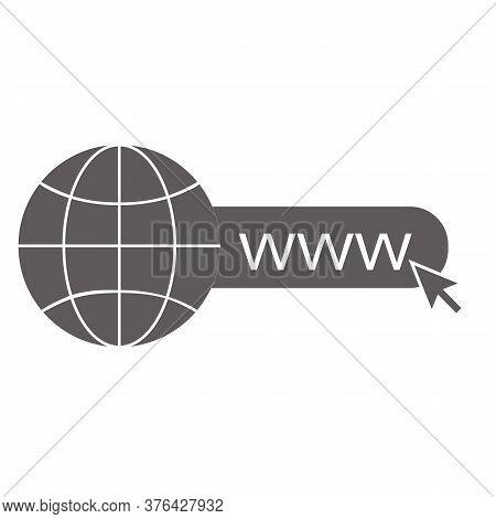 World Wide Web Icon On White Background. Go To Web Sign. Internet Symbol. Website Icon. Flat Style.