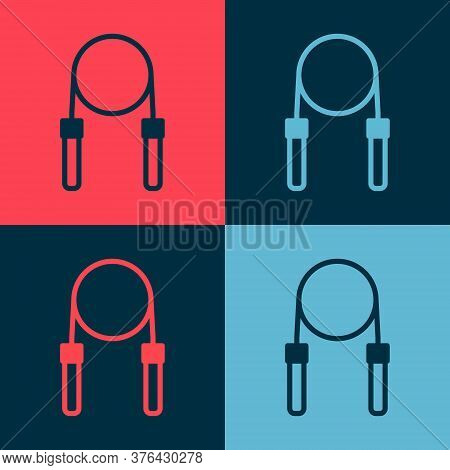 Pop Art Jump Rope Icon Isolated On Color Background. Skipping Rope. Sport Equipment. Vector