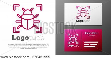 Logotype Line System Bug Concept Icon Isolated On White Background. Code Bug Concept. Bug In The Sys