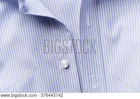Close Up Of Men's Striped Shirt. Fashion.