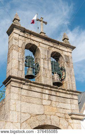 Amarante, Portugal - Circa July 2020: Bells Tower On Church Of Gatao. The Church Of Gatão Is A Build