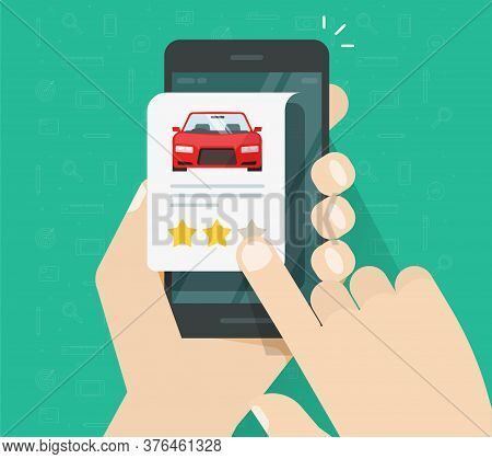 Car Vehicle Review Rating Online On Mobile Phone Or Automobile Testimonial Feedback, Website Shop On