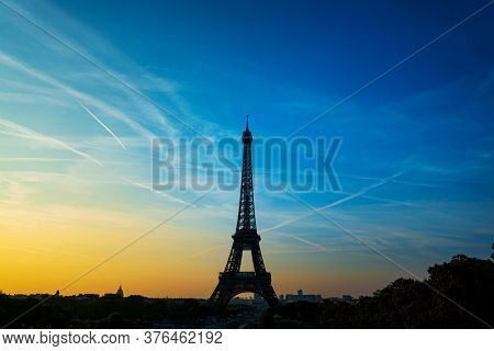 Eiffel Tower is a wrought-iron lattice tower on the Champ de Mars in Paris, France.