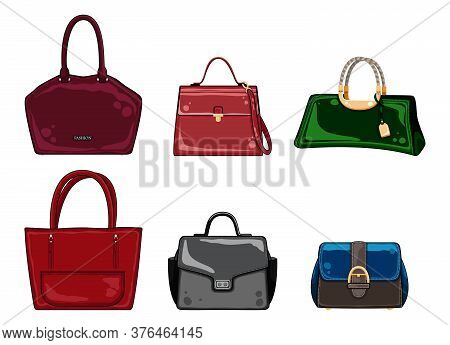 Woman Color Bags Designer Ladies Handbag Collection. Feminine Handbag For Shopping, Travel, Vacation