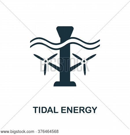 Tidal Energy Icon. Simple Element From Alternative Energy Collection. Creative Tidal Energy Icon For