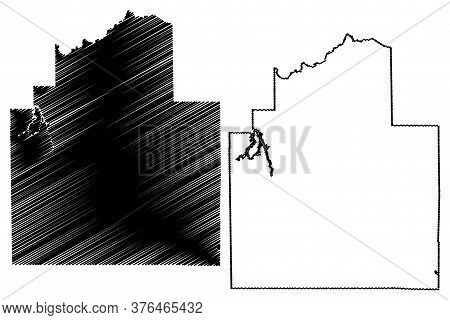 Christian County, Illinois (u.s. County, United States Of America, Usa, U.s., Us) Map Vector Illustr