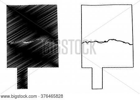 Lasalle County, Illinois (u.s. County, United States Of America, Usa, U.s., Us) Map Vector Illustrat