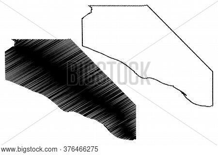 Massac County, Illinois (u.s. County, United States Of America, Usa, U.s., Us) Map Vector Illustrati