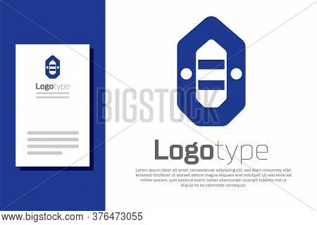 Blue Rafting Boat Icon Isolated On White Background. Inflatable Boat. Water Sports, Extreme Sports,