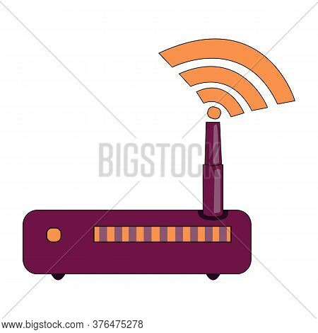 Wi-fi Icon. Vector Wi-fi Eps 10. Made For Your Phone Site And Use. Wi-fi Flat Design. Router Vector