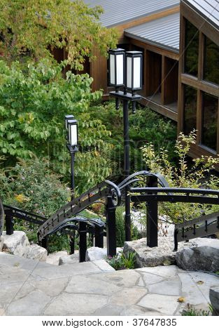 lanterns and stairs