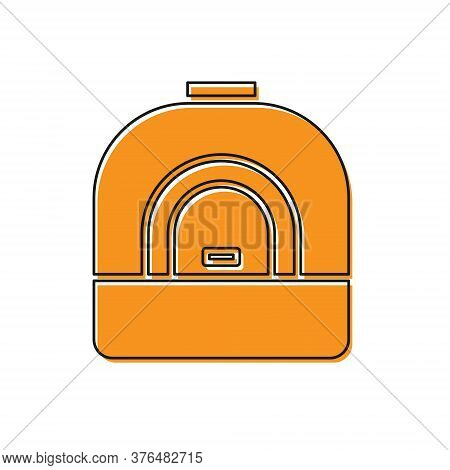 Orange Oven Icon Isolated On White Background. Stove Gas Oven Sign. Vector Illustration