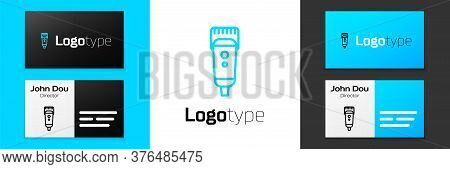 Grey Line Electrical Hair Clipper Or Shaver Icon Isolated On White Background. Barbershop Symbol. Ve