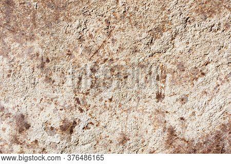 Metal Rust Texture. Grunge Peeling Paint Background. Dirty Industrial Steel Sheet Pattern. Weathered