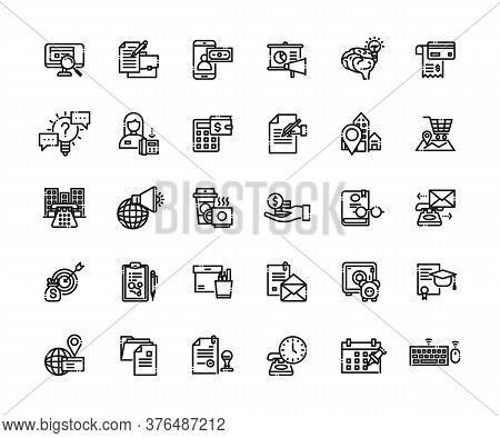 Business And Finance Icons Set. Icons For Business, Management, Finance, Money, Finance, Payments, B