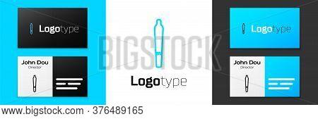 Grey Line Marijuana Joint, Spliff Icon Isolated On White Background. Cigarette With Drug, Marijuana
