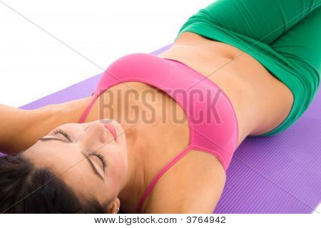 Woman At Fitness Center