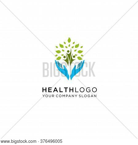 People & Nature Balance - Eco Lifestyle Concept Vector Icon. This Graphic Also Represents Harmony, N