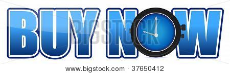 Buy Now Text Illustration Design