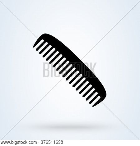 Hairdresser Comb Line Icon. Icon Flat Style Sign For Mobile Concept And Web Design. Barber Comb Vect