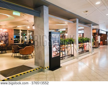 Athens, Greece - February, 11 2020: A Flocafe Greek Coffee Company And Coffeehouse Chain Inside The