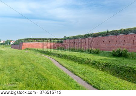 Fortification Walls Of The Old Town In Zamosc, Poland.