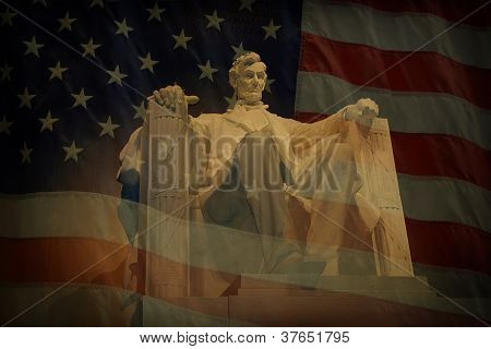Lincoln Memorial Flag