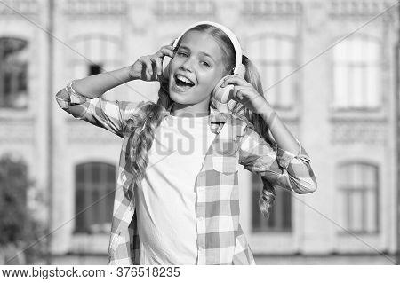 Learning Concept. Home Schooling Online Education. Smiling Schoolgirl. Wherever I Go. Back To School